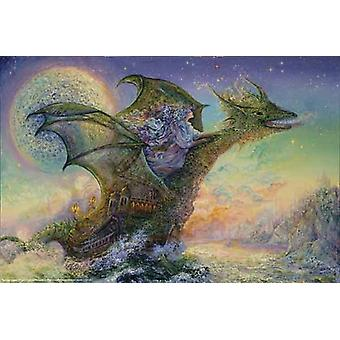 Dragon Ship Poster Print by Josephine Wall (36 x 24)