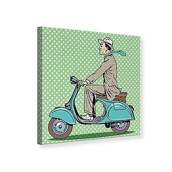 Canvas Print Pop Art Vespa Driver