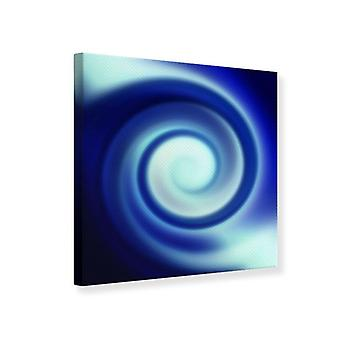 Canvas Print Abstract Blue Swirl