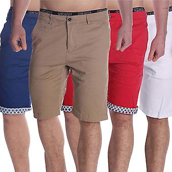 Men's Chinoshorts Bermuda bruised to hem print short Chino stretch pants