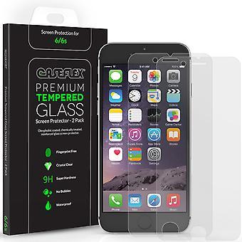 Caseflex iPhone 6s skärmskydd härdat glas - 2 Pack
