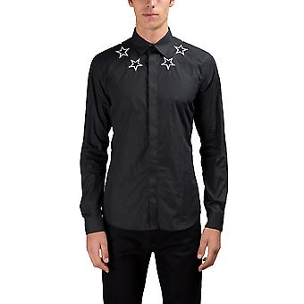 Givenchy men's 17S 6068300001 black cotton shirt