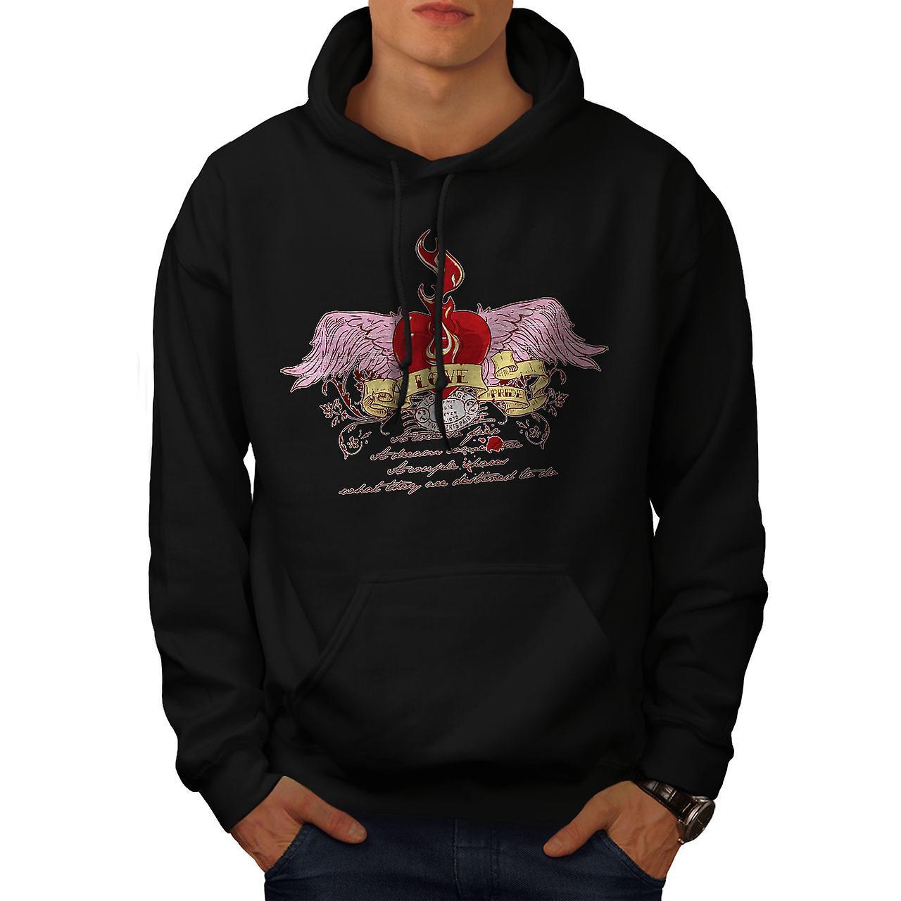 Love Pride Heart Fashion Men Black Hoodie | Wellcoda