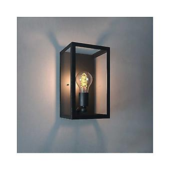 Eglo Charterhouse Black Rectangular Porch Wall Lantern Wall Light