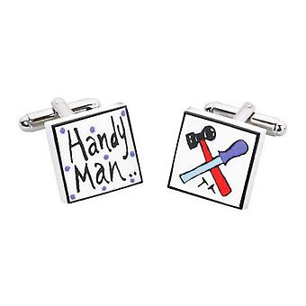 Handy Man Cufflinks by Sonia Spencer, in Presentation Gift Box. DIY, Odd job