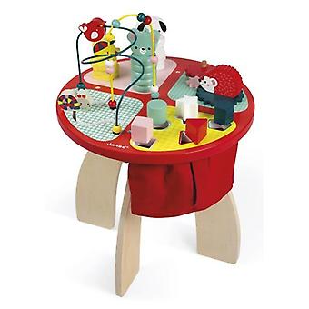 Janod Baby Forest Activity Table Wooden Toy 12m+