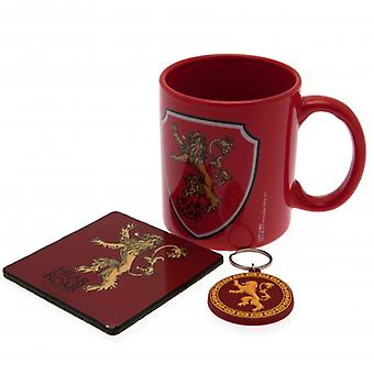 Game Of Thrones Mug & Coaster Set Lannister