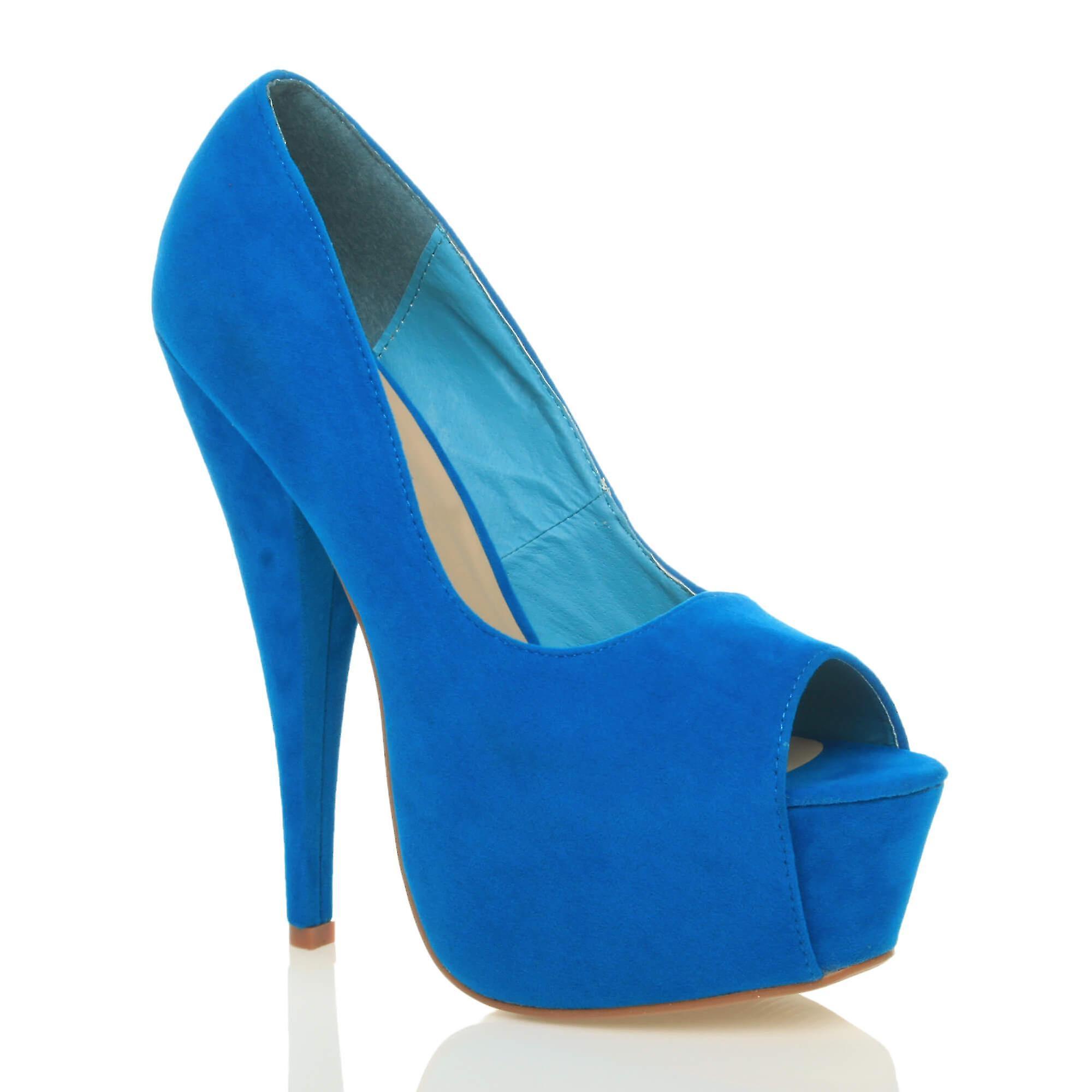 Ajvani Damen high Heels klassischen Party Abend Peep Toe Gericht Schuhe Sandalen