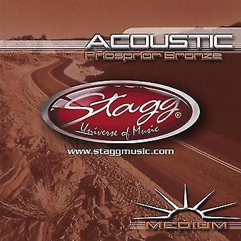 Stagg fosforbrons akoestische String Set - Medium
