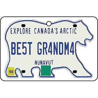 NUNAVUT - bästa mormor licens plattan bil luftfräschare