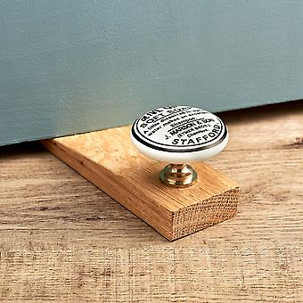 Olive Oil Oak Wedge Door Stop
