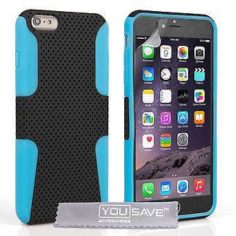 Etui do iPhone'a 6s Plus trudne siatki kombi - niebiesko-czarny
