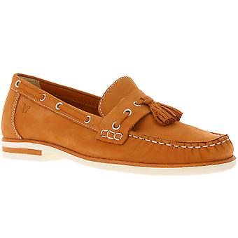 Caprice Echtleder Mokassins Bootsschuhe Damen Orange