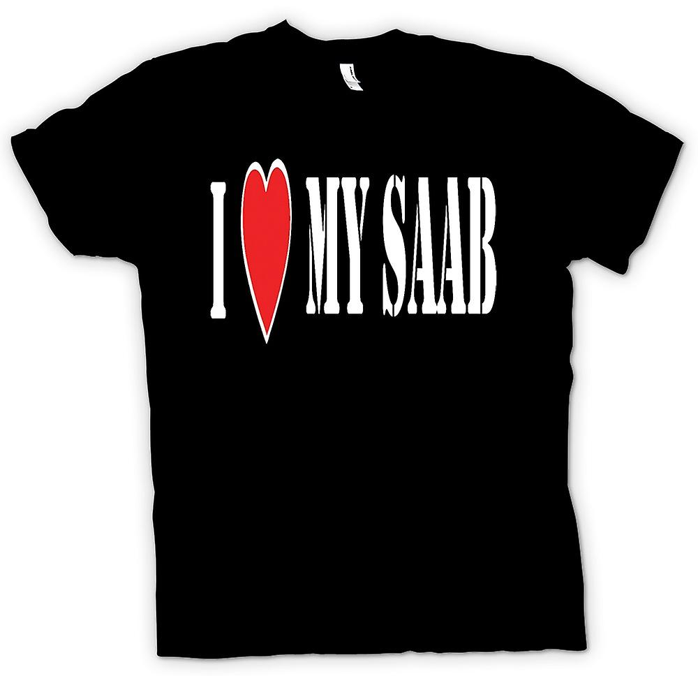 Womens T-shirt - j'ai LoveMy Saab - voitures Fun