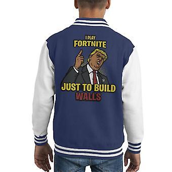 Gram Fortnite tylko po to, aby budować ściany Donald Trump Kid uniwerek kurtka