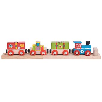 Bigjigs Rail Wooden Airport Express Carriages Locomotive Train Engine