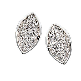 Orphelia Silver 925 Earring Bladvorm Micro Pave  ZO-5940