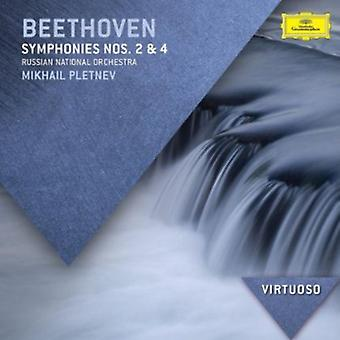 Platnev, Mikhail/Russian National Orchestra - Beethoven: Symphonies Nos. 2 & 4 [CD] USA import