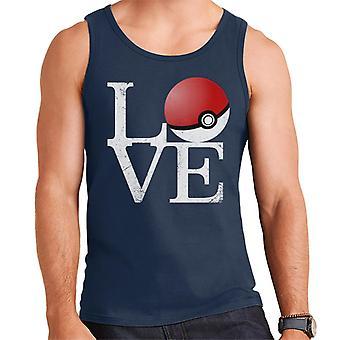 Pokemon Liebe Pokeball Herren Weste