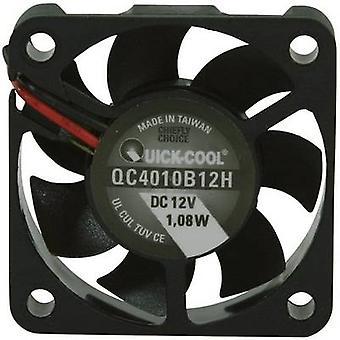 QuickCool QC4010B12H Axial fan 12 Vdc 12,23 m ³/h (L x W x H) 40 x 40 x 10 mm
