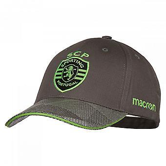 2018-2019 Sporting Lisbon Macron Baseball Cap (Grey)