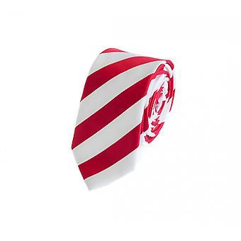 Tie binde bånd knyttes 6cm rød Fabio Farini hvit stripete