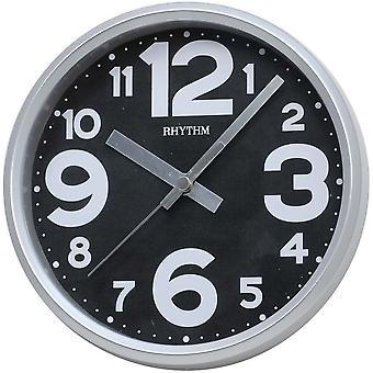 Tisch Uhr Tischuhr Wanduhr Quarz grau schleichende Sekunde