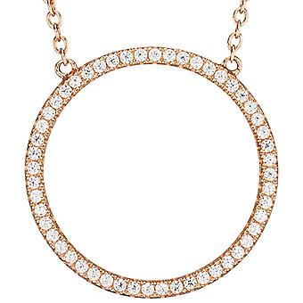 Necklace rose gold gilded with cubic zirconia necklace 925 Silver 45 cm chain
