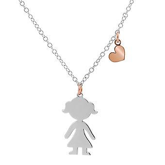 Orphelia plata 925 cadena con colgante Bicolor chica 40 + 4 cm