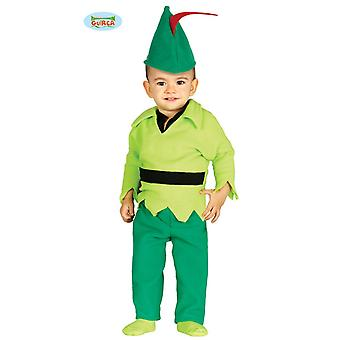 Baby costume Archer costume for kids of medieval fairy tale little Robin child costume