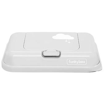 Funkybox Caja para Toallitas To Go Gris nube (Childhood , Diaper and changers , Wipes )
