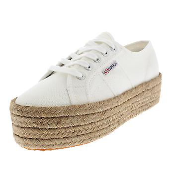 Womens Superga 2790 Cotropew Flatform Rope Wedges Summer Casual Trainers