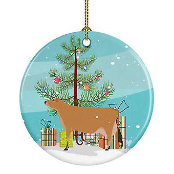 Carolines skatter BB9196CO1 Jersey ku Christmas keramiske Ornament