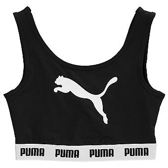 Puma Kids meisjes Tape Crop Top Junior Vest Tank bemanning hals Stretch Print sport
