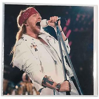 Guns N Roses wenskaart Axl Rose bandlogo nieuwe officiële leeg elke gelegenheid