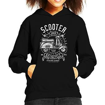 Retro-1950 Roller Garage Kid Sweatshirt mit Kapuze