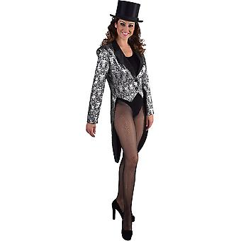 Women costumes  Tailcoat luxury silver