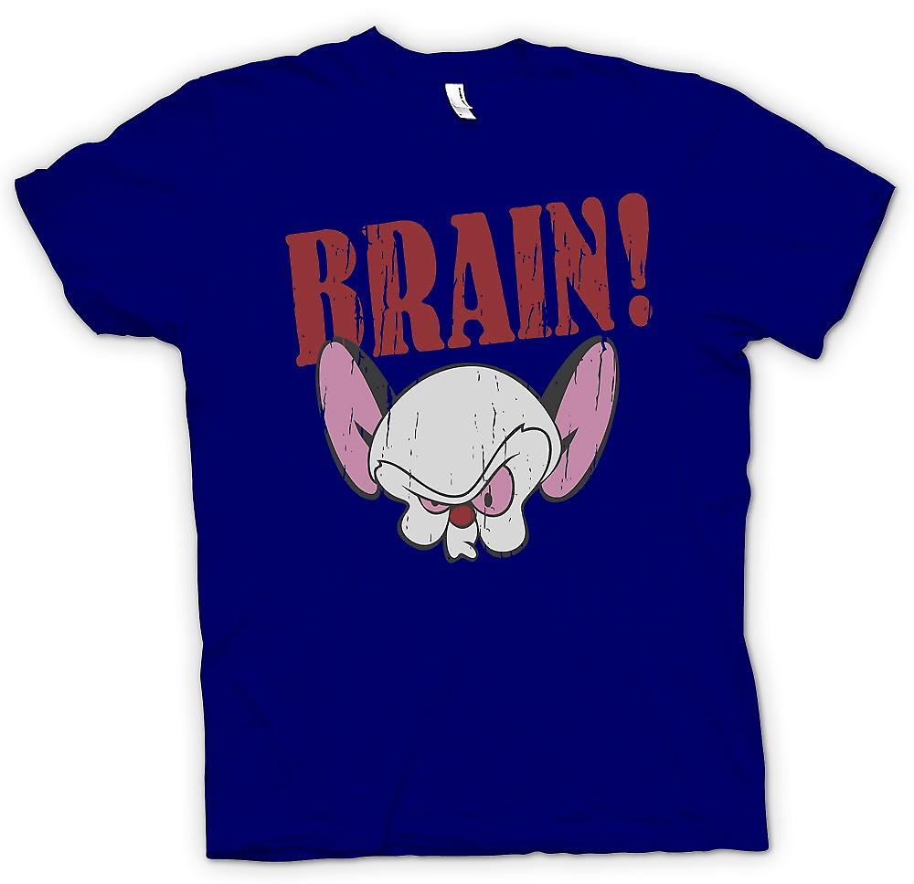 Mens T-shirt - Brain - Pink And The Brain Inspired