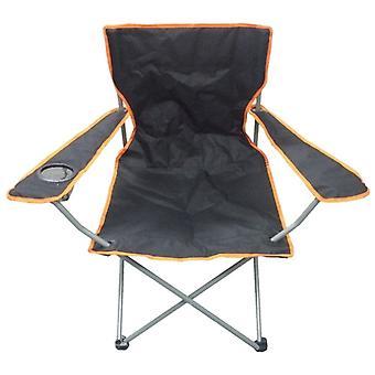 Black & Orange Lightweight Folding Camping Beach Captains Chair