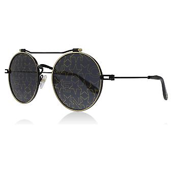 Givenchy GV7079/S 2M 2 neri / oro GV7079/S Occhiali da sole rotondi lente categoria 3 dimensioni 53mm