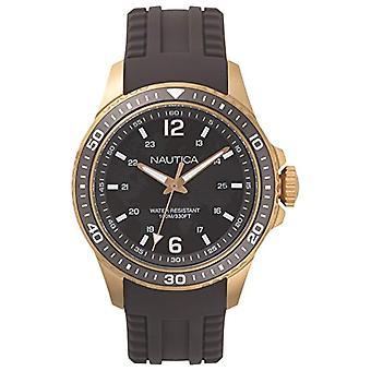 Nautica Analogueico Watch quartz men with Silicone strap NAPFRB004