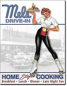 Mels Drive In metal sign