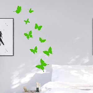 Neon butterflies wall stickers