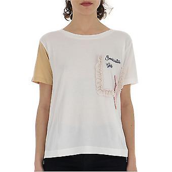 Semi-couture White Cotton T-shirt