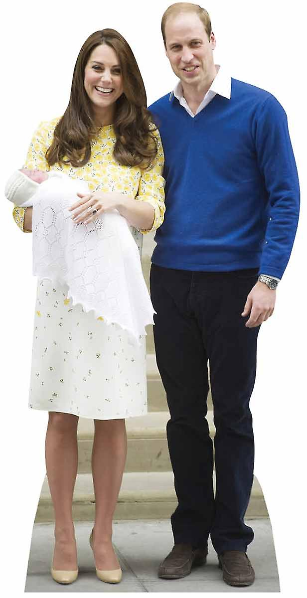 Princess Charlotte, Prince William and Kate The Duchess of Cambridge Lifesize Cardboard Cutout / Standup