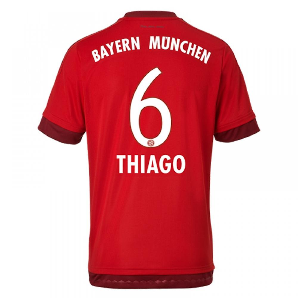 2015-16 Bayern Munich Home Shirt (Thiago 6) - Kids