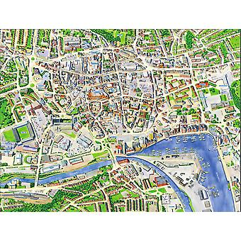 Cityscapes Street Map Of Ipswich 400 Piece Jigsaw Puzzle 470mm x 320mm (hpy)