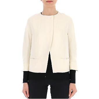 New York Industrie White Nylon Outerwear Jacket
