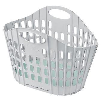 Addis Fold flat laundry basket Plastic  38 litre   light weight single pack