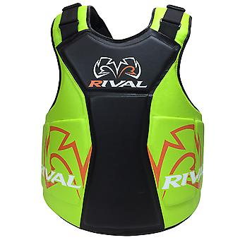 Rival Boxing The Shield Body Protector - Black/Lime